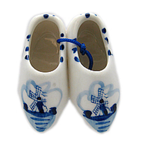 Delft Ceramic Wooden Shoes Magnet - DutchNovelties  - 1