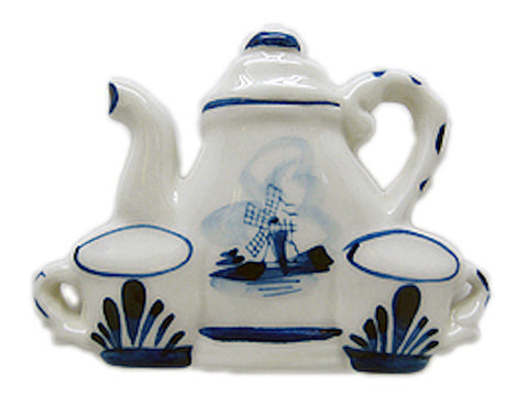 Tea For Two Delft Blue Magnetic Gift - DutchNovelties  - 1