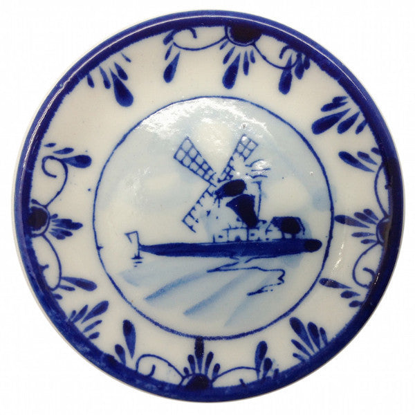 Delft Windmill Plate Kitchen Magnet - DutchNovelties  - 1