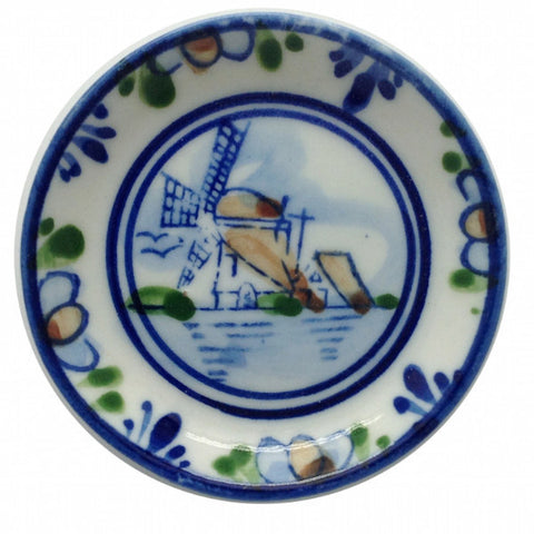 Color Miniature Windmill Plate Kitchen Magnet - DutchNovelties  - 1