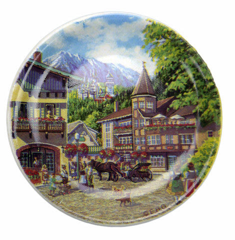 Ceramic Plate German Summer Fridge Magnet - DutchNovelties