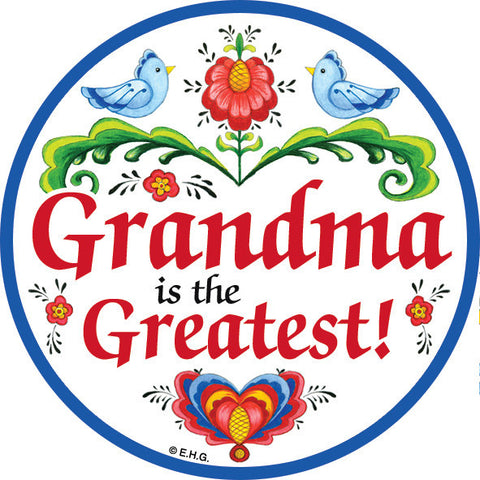 Grandma Is the Greatest Magnet Plate - DutchNovelties