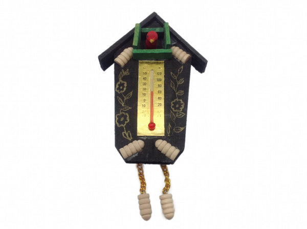 Magnets Souvenir German Cuckoo Clock with Thermometer - DutchNovelties