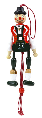 Bavarian Boy Jumping Jack Refrigerator Magnet - DutchNovelties