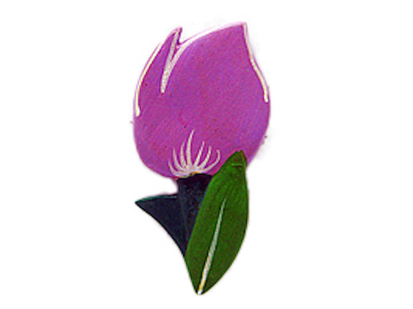 Tulip Time Fridge Magnet Violet Color - DutchNovelties  - 1