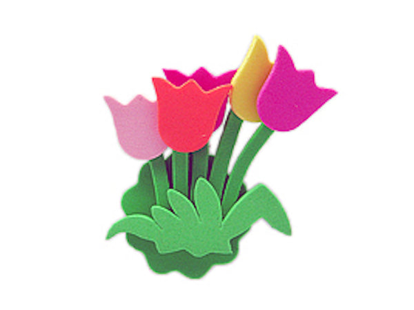 Tulip Time Fridge Magnet Tulip Bouquet - DutchNovelties  - 1