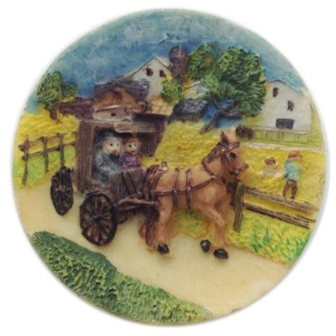 Amana Colonies Souvenir Novelty Magnet / Buggy - DutchNovelties