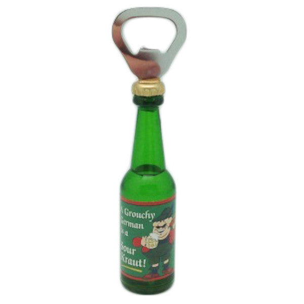 Magnetic Bottle Opener Grouchy German Kitchen Magnet - DutchNovelties