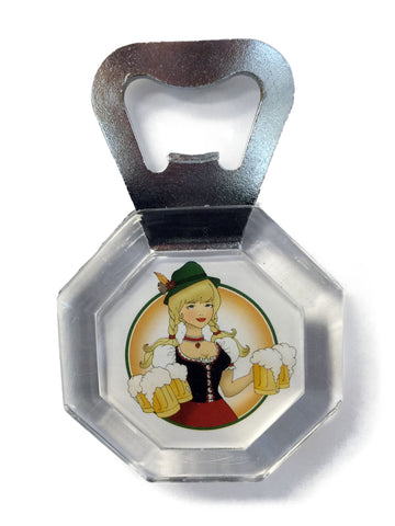 Acrylic Bottle Opener German Oktoberfest Lady
