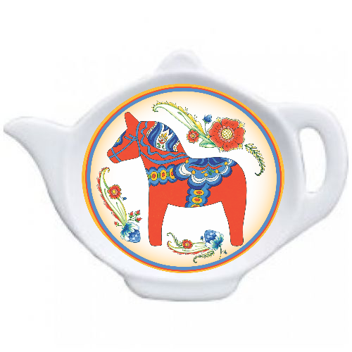 Red Dala Horse Decor Teapot Magnet - DutchNovelties