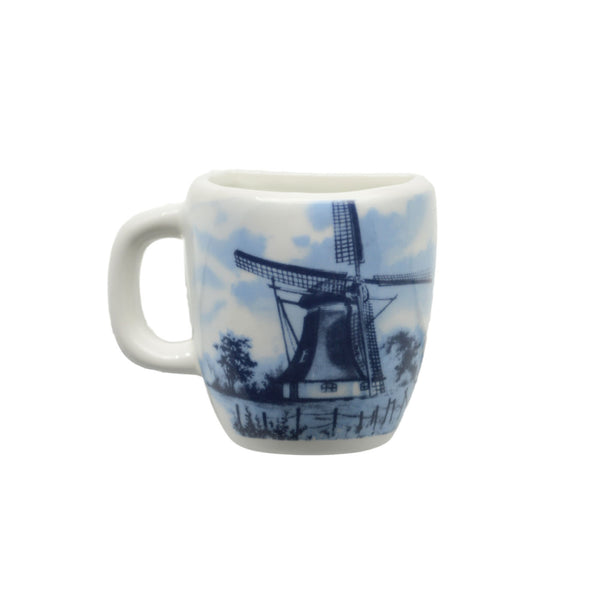 Dutch Windmill Scene Souvenir Mug Magnet - DutchNovelties