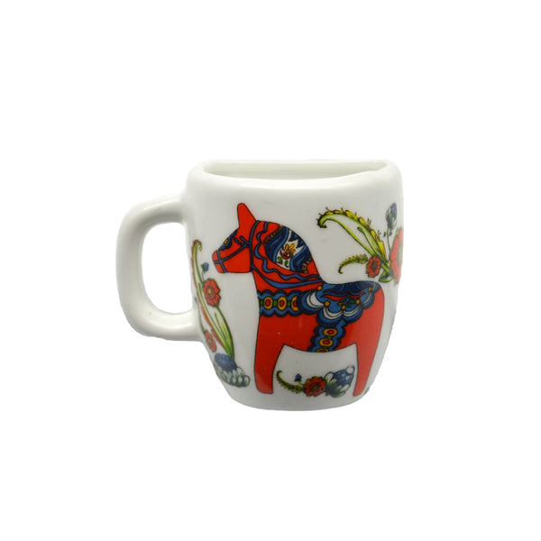 Red Dala Horse Decorative Souvenir Mug Magnet - DutchNovelties