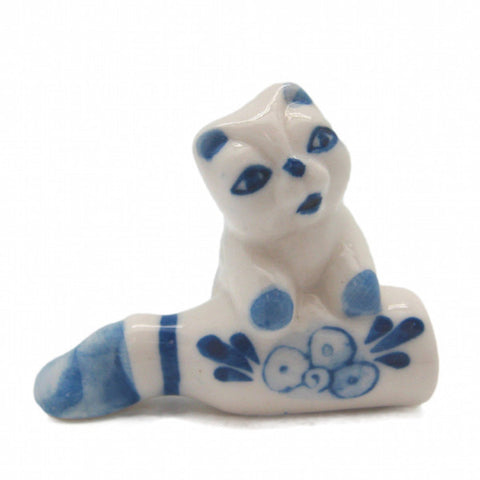 Animals Miniatures Delft Blue Cat & Bottle - DutchNovelties  - 1