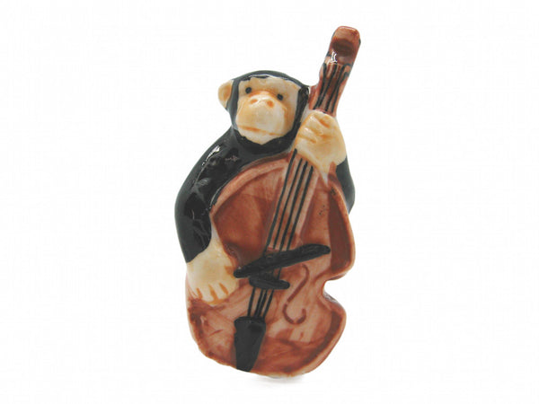 Color Miniature Musical Instrument Monkey With Bass - DutchNovelties  - 1