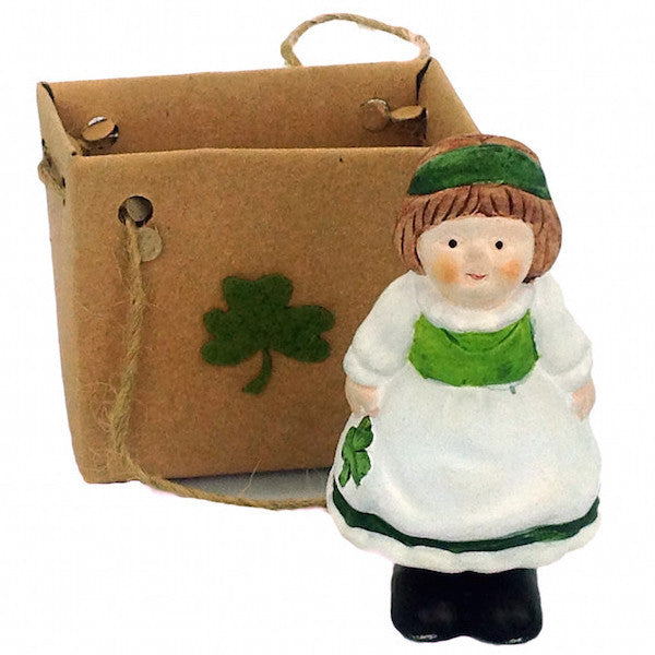 Irish Girl Ceramic Ornamental Miniature - DutchNovelties