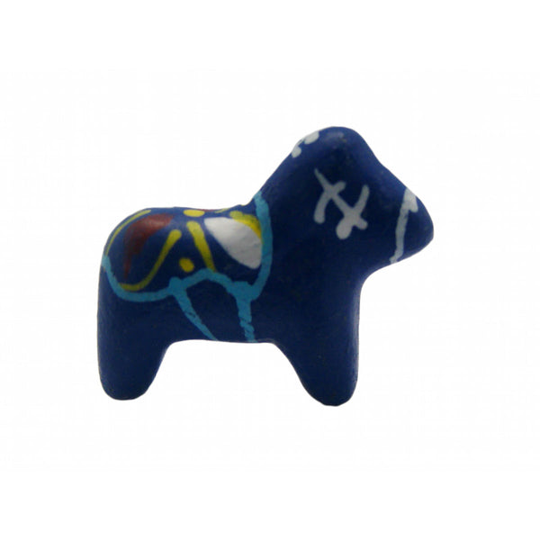 Miniature Swedish Dala Horses Blue