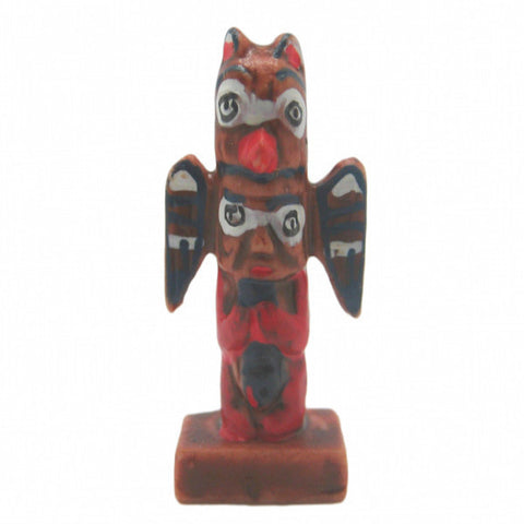 Alaska Souvenir Miniature Totem Poll Poly Resin - DutchNovelties  - 1