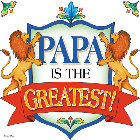 Papa is the Greatest Magnet Tile - DutchNovelties
