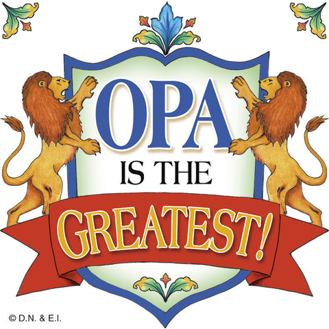 Dutch Gift Idea Opa Kitchen Magnet Tile - DutchNovelties