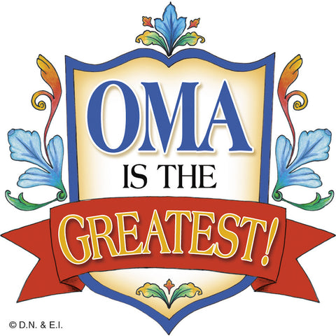 Dutch Gift Idea Oma Kitchen Magnet Tile - DutchNovelties