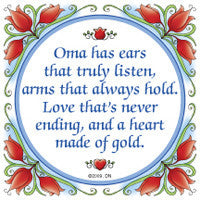 Dutch Gift for Oma Tile Kitchen Magnet - DutchNovelties