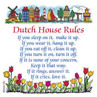 "Dutch Kitchen Magnet ""Dutch House Rules"" - DutchNovelties"