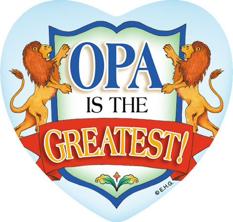 Magnetic Heart Tile: Opa Greatest - DutchNovelties
