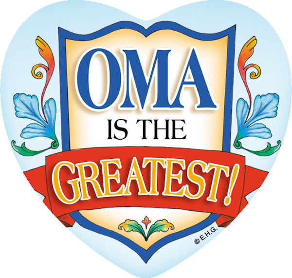 Magnetic Heart Tile: Oma Greatest - DutchNovelties  - 1