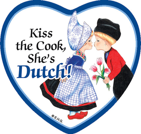 Heart Tile Magnet: Dutch Cook - DutchNovelties  - 1