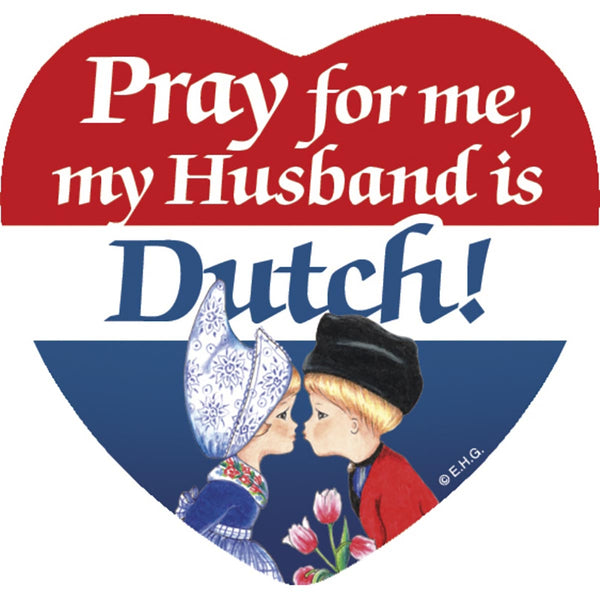 Heart Tile Magnet: Dutch Husband