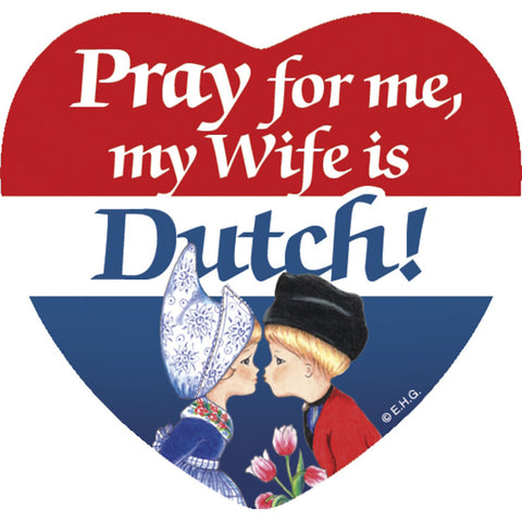 Heart Tile Magnet: Dutch Wife