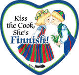 Fridge Heart Tile: Finnish Cook - DutchNovelties
