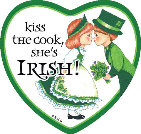 Fridge Heart Tile Irish Cook - DutchNovelties  - 1