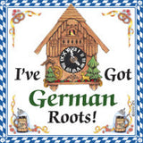 German Souvenir Magnet Tile (German Roots) - DutchNovelties