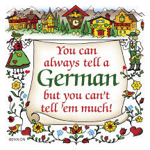 German Souvenir Magnet Tile (Tell A German) - DutchNovelties