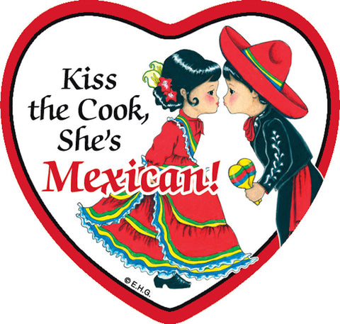 Fridge Heart Tile: Mexican Cook - DutchNovelties  - 1