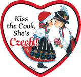 Fridge Heart Tile: Czech Cook - DutchNovelties
