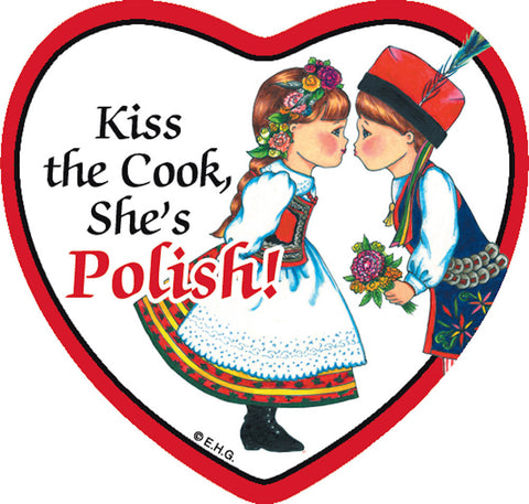 Fridge Heart Tile: Polish Cook - DutchNovelties  - 1