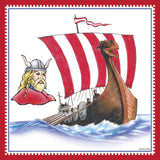 Norwegian Viking Ship Fridge Magnet Tile - DutchNovelties