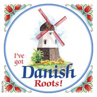 Danish Refrigerator Magnet Tile (Danish Roots) - DutchNovelties  - 1