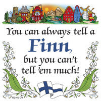 Novelty Magnetic Finnish Tile (Tell A Finn) - DutchNovelties