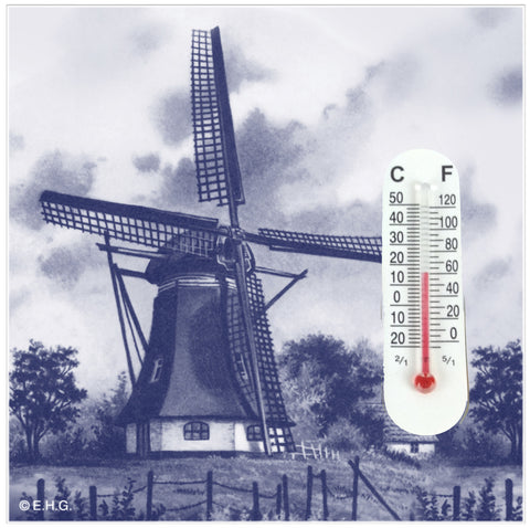 Thermometer Magnetic Tile: Windmill - DutchNovelties  - 1