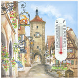 Thermometer Magnetic Tile: Euro Village - DutchNovelties  - 1