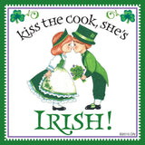 """Kiss Irish Cook""Irish Gift Idea Magnet Tile - DutchNovelties  - 1"