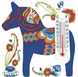 Thermometer Magnetic Tile: Blue Dalarna - DutchNovelties  - 1