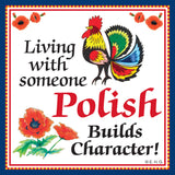 Ceramic Tile Magnet: Polish Character - DutchNovelties  - 1