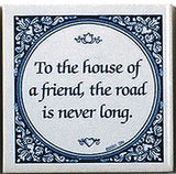 Magnet Tile Quotes: House Of Friend - DutchNovelties  - 1