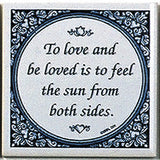 Magnet Tile Quotes: Love & Be Loved - DutchNovelties  - 1