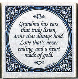 Magnet Tile Quotes: Grandma's Heart Of Gold - DutchNovelties  - 1