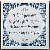 Delft Magnet Tiles: God's Gift To You - DutchNovelties  - 1